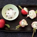 radishes mint butter