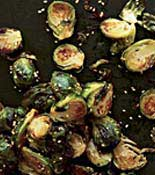seasame crusted brussels sprouts