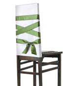 green ribbon on chair back
