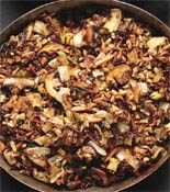 wild rice with mushroom