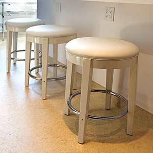 now serving vinyl stools