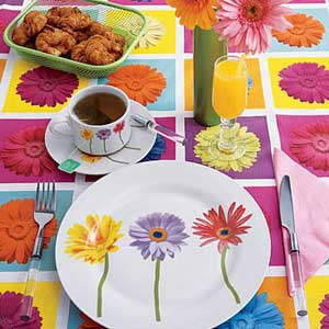 table settings flower