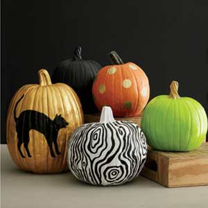 No carve pumpkin designs every day with rachael ray Easy pumpkin painting patterns