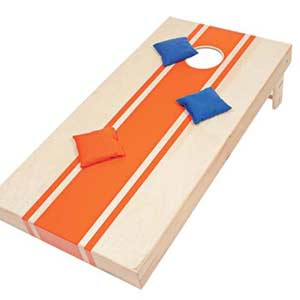 striped Cornhole game