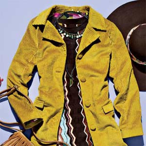 Yellow Corduroy Jacket