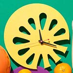 Lemon slice clock