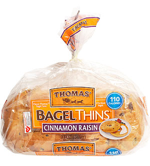 Thomas? Cinnamon Raisin Bagel Thins