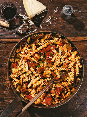 Olive & Caper Sauce with Fusilli