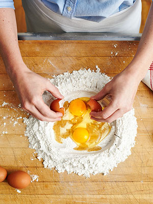Step 2: Crack the eggs