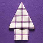 Arrow napkin fold