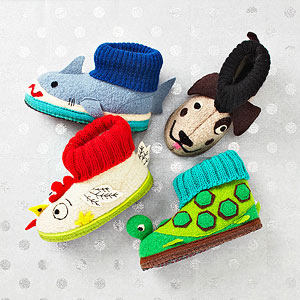 Wool animal children?s slippers