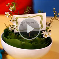 Armani Leaf Bowl Centerpiece video