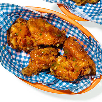 Spicy Honey-Peach Wings