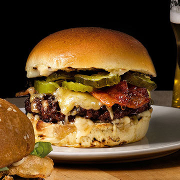 Smoky bacon burger
