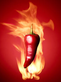 flaming pepper