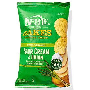 Best Sour Cream & Onion The Kettle Brand Bakes Sour Cream & Onion chips