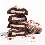 Double Chocolate Cookies with a Peppermint Patty Surprise