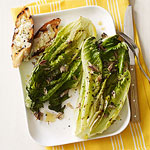 Grilled Caesar Salad with Parmesan Crostini
