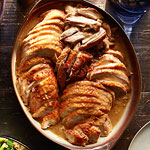 Brined Dijon Turkey with Pan Gravy