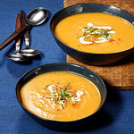 Butternut Squash Soup with Red Chile & Mint