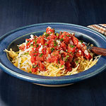 Cheesy Spaghetti Squash with Tomato Sauce