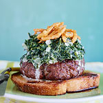 Creamed-Spinach Knife & Fork Burgers