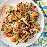 Grilled Bread Salad with Chicken