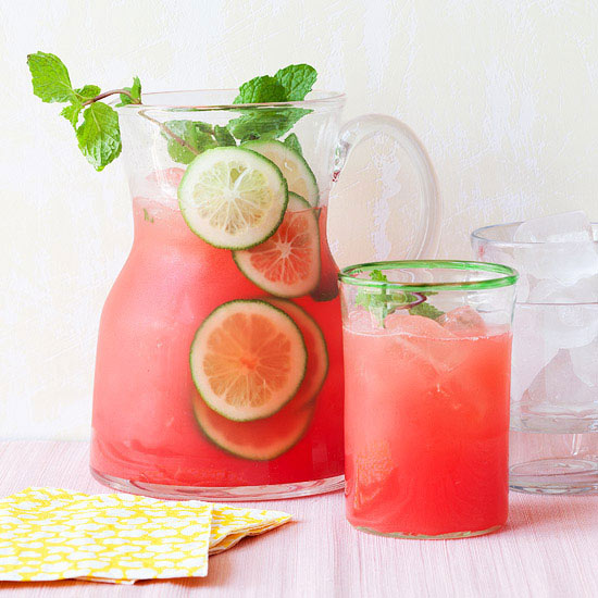 the party pitcher fun with this refreshing non-alcoholic agua fresca ...