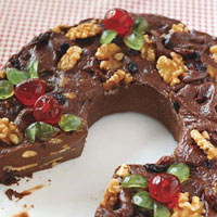 Fabulous 5-Minute Fudge Wreath