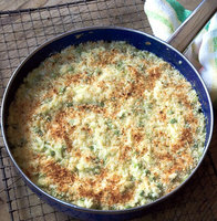 Sweet Pea Risotto Gratin