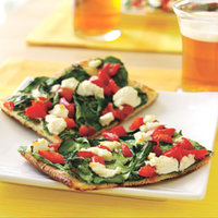 Goat Cheese-Spinach Pizza