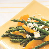 Asparagus, Orange and Blue Cheese Salad