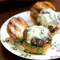 Mini Beef-and-Sage Sliders with Gorgonzola