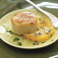 Scallops with Sicilian Orange Salad
