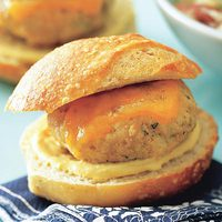 Turkey Mini-Burgers with Warm Potato Salad
