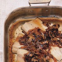 Mushroom-Smothered Trout