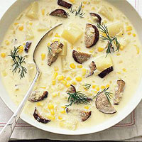 Corn and Kielbasa Chowder