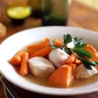 Potted Sweet Potatoes, Carrots and Chicken