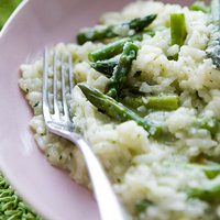 Asparagus and Parsley Pesto Risotto Bake