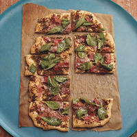 Prosciutto and Pesto Pizza