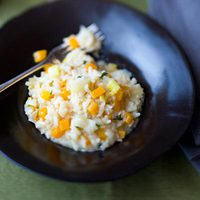 Leek Risotto with Squash and Thyme