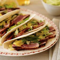 Sliced Tuna Soft Tacos