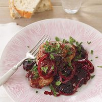 Pork Medallions with Prunes and Red Wine