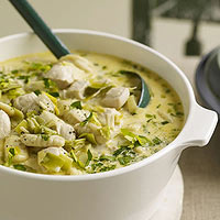 Leeky, Creamy Chicken-and-Dumpling Stoup