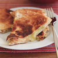 Grilled Chicken and Green Chile Quesadillas