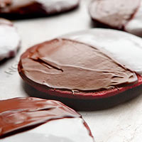 Red Velvet Black & White Cookies