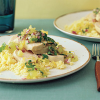 Poached Chicken with Grape Relish