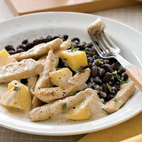 Coconut Mango Chicken with Black Beans