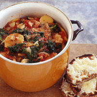 Red and Green Winter Stoup