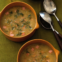 Zucchini, Potato and Ham Soup